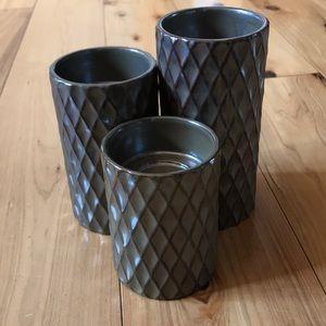 3 pillar tea light holders